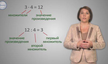 Математика 3 Умножение и деление