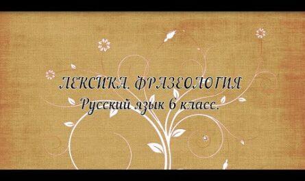 Русский язык, 6 класс. Лексика. Фразеология. Свиридова А.В.