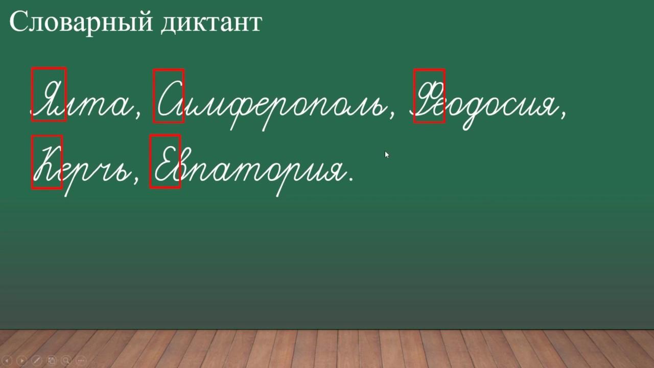 Заглавная буква в словах 1 класс