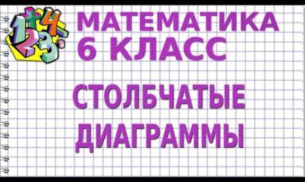СТОЛБЧАТЫЕ ДИАГРАММЫ. Видеоурок   МАТЕМАТИКА 6 класс