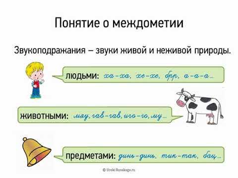 Понятие о междометии (7 класс, видеоурок-презентация)