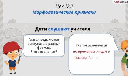 89  Морфологический разбор глагола