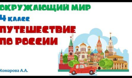 Окружающий мир 4 класс «Путешествие по России» Комарова А.А.