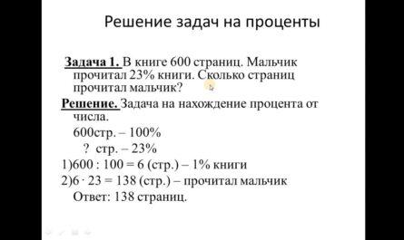 Основные задачи на проценты. 5 класс.