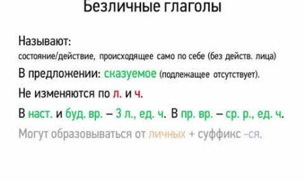 Безличные глаголы (7 класс, видеоурок-презентация)