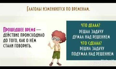 Изменение глагола по временам. Русский язык. 3 класс.