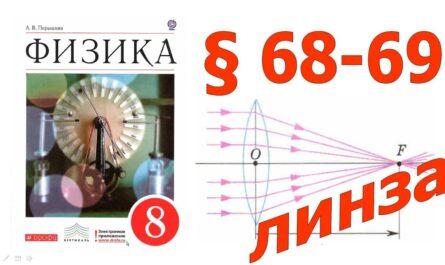 § 68-69. Линзы. Изображения, даваемые линзой.