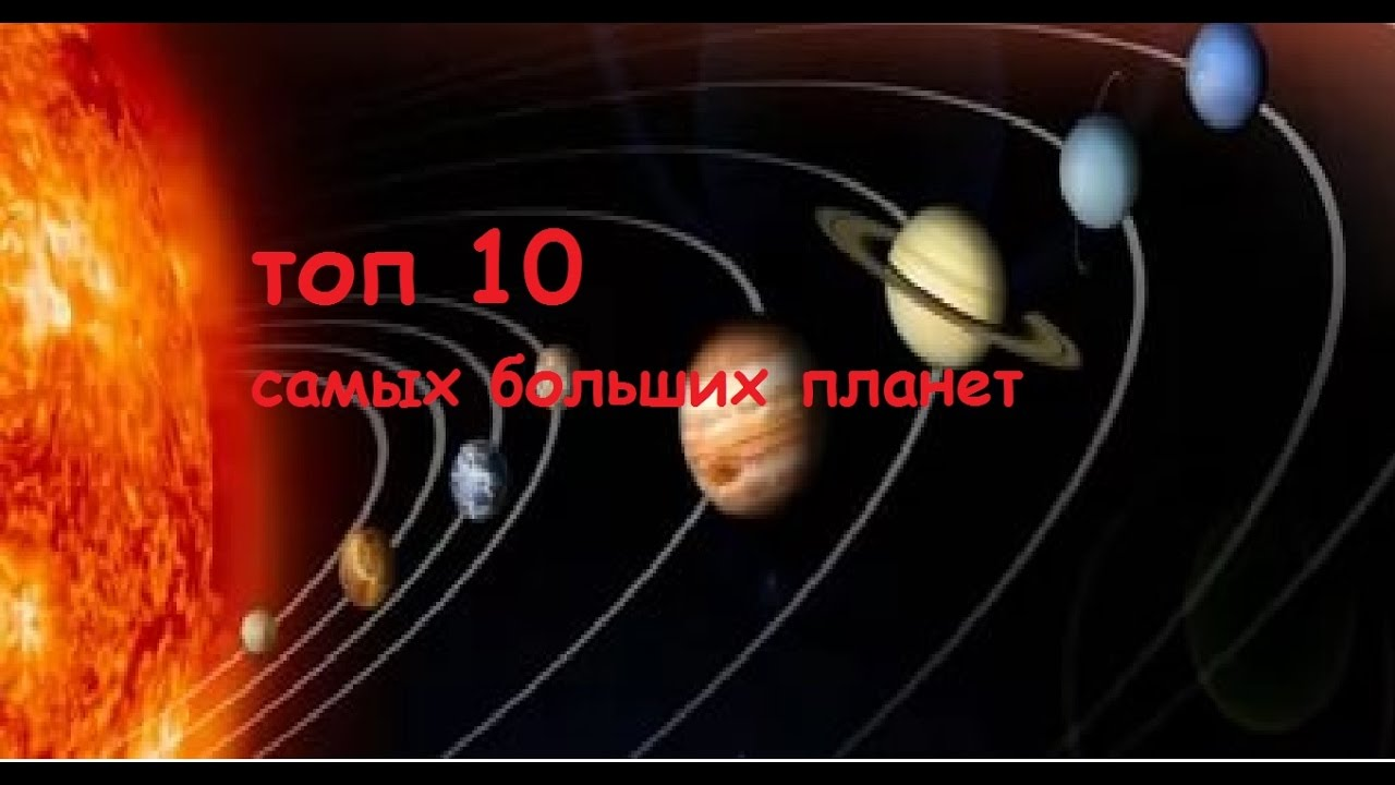 топ 10 самых больших планет в солнечной системе