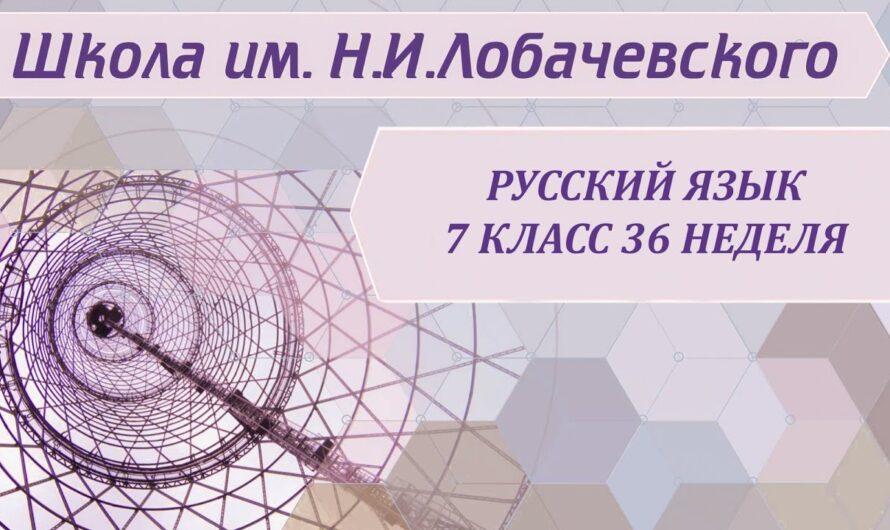 Русский язык 7 класс 36 неделя Междометие как часть речи