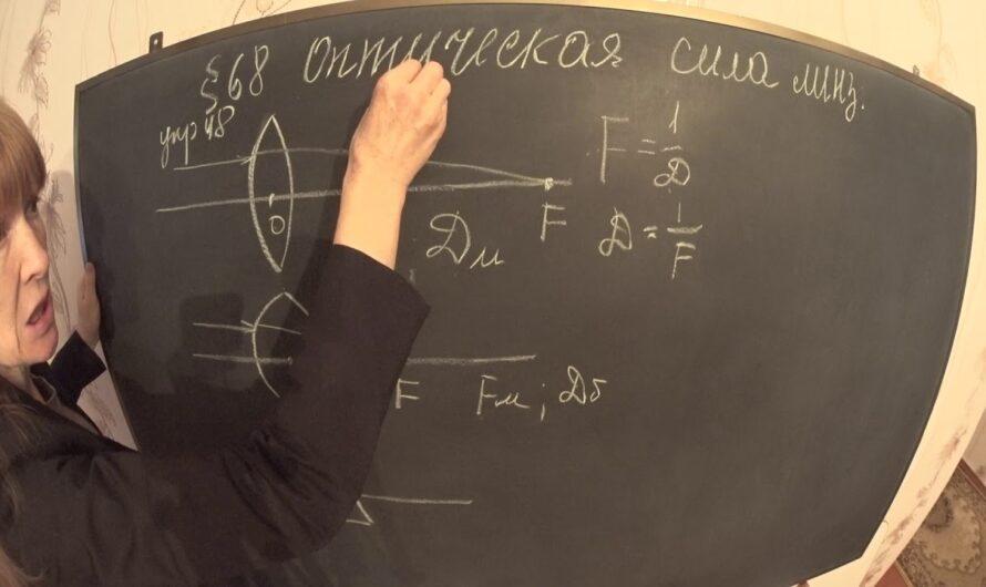 оптическая сила линзы 8 класс