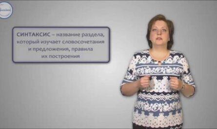 Уроки русского язык.  Что такое синтаксис и пунктуация.
