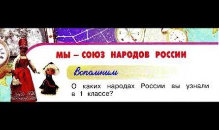 Окружающий мир 2 класс, Перспектива, с.4-7, тема урока «Мы - союз народов России»