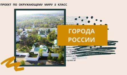 """Проект по окружающему миру """"Города России"""", 2 класс"""