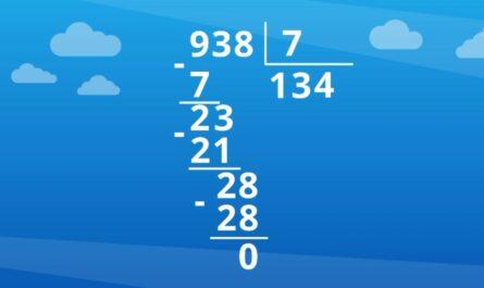 Прием письменного деления на однозначное число