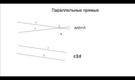 Математика 6 класс - ПАРАЛЛЕЛЬНЫЕ ПРЯМЫЕ