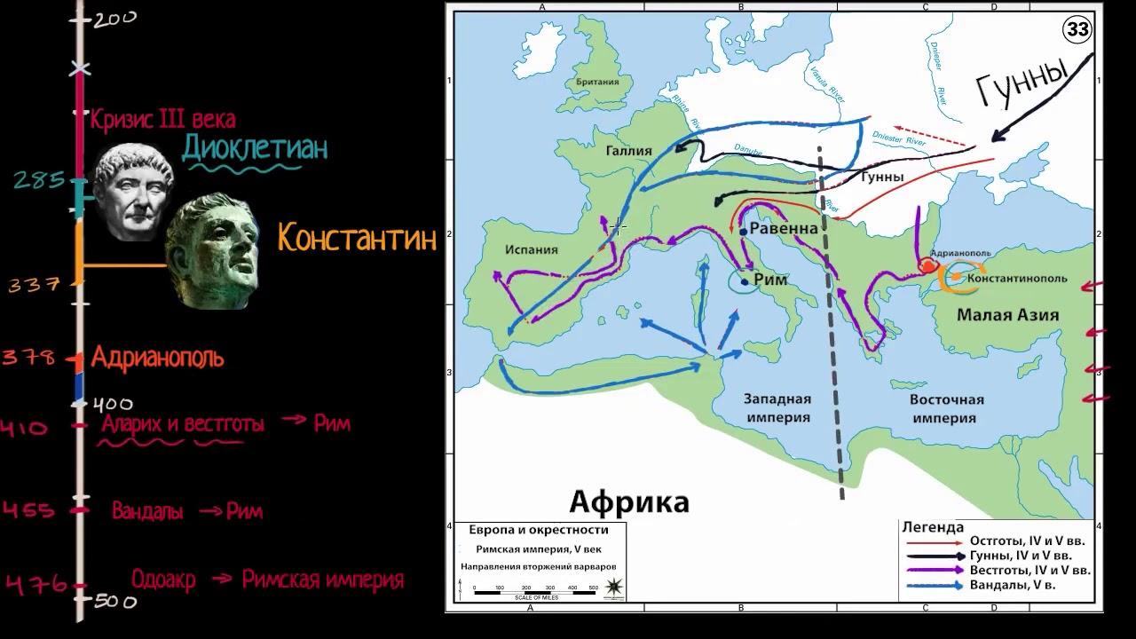 Падение Римской империи (видео 26)| Древние цивилизации