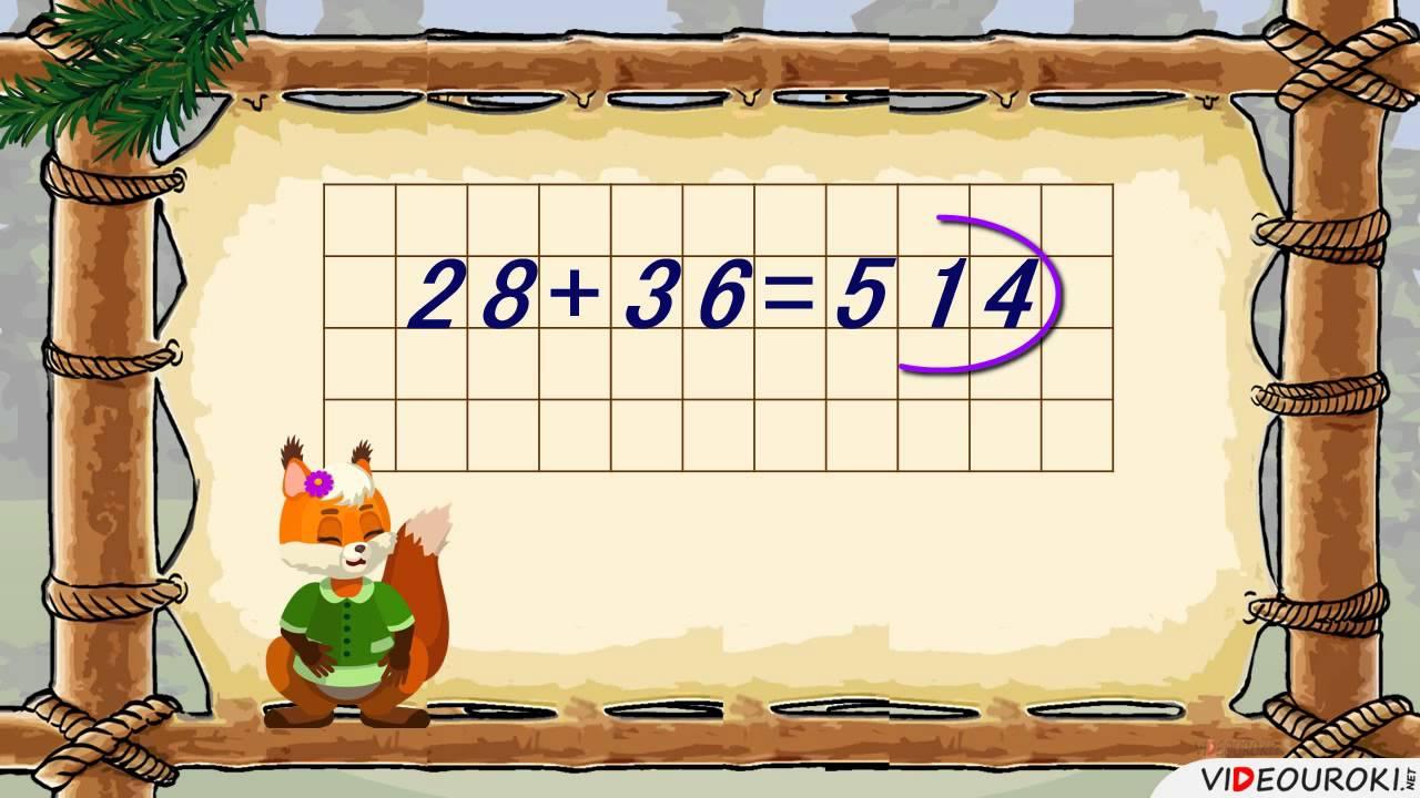 """Видеоурок по математике """"Письменный прием сложения двузначных чисел с переходом через разряд"""""""