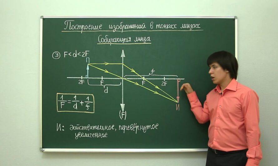 Геометрическая оптика: Построение изображений в тонких линзах. Центр онлайн-обучения «Фоксфорд»