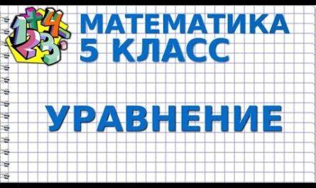 УРАВНЕНИЯ. Видеоурок   МАТЕМАТИКА 5 класс