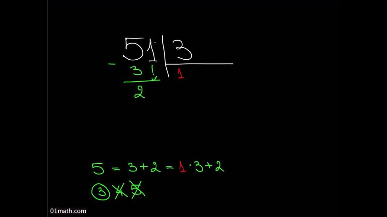 Деление в столбик на числа первого десятка B2 1