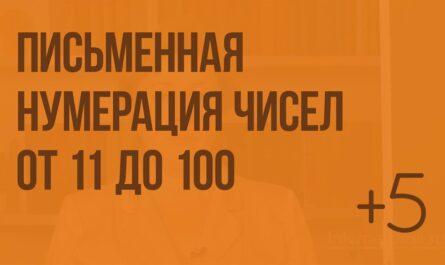 Письменная нумерация чисел от 11 до 100. Видеоурок по математике 2 класс