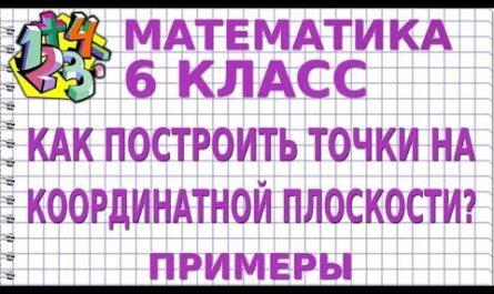 КАК ПОСТРОИТЬ ТОЧКИ НА КООРДИНАТНОЙ ПЛОСКОСТИ? Примеры | МАТЕМАТИКА 6 класс