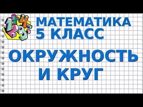ОКРУЖНОСТЬ И КРУГ. Видеоурок | МАТЕМАТИКА 5 класс