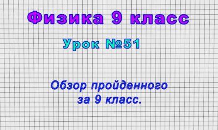 Физика 9 класс (Урок№51 - Обзор пройденного за 9 класс.)