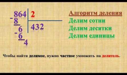 Урок математики в 3 классе. Письменные приемы деления трехзначных чисел на однозначные.