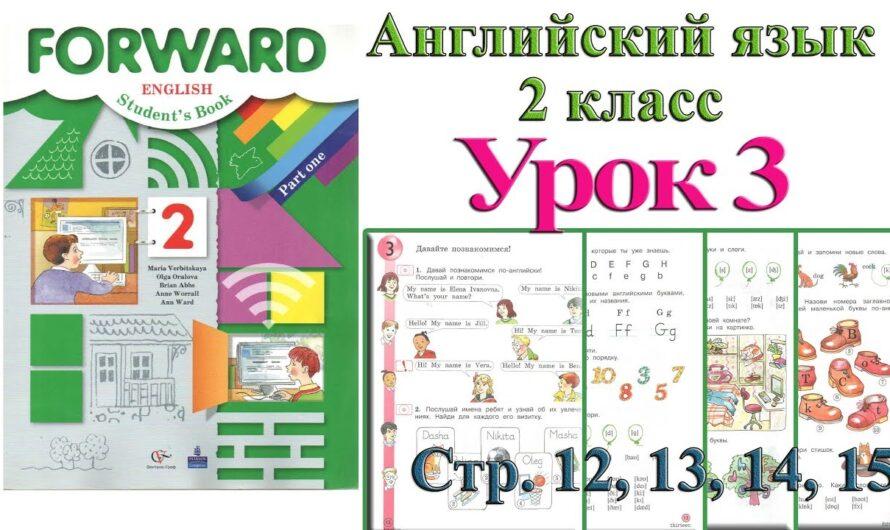 2 класс Урок 3  Английский язык Forward Вербицкая 1 часть стр 12 13 14 15