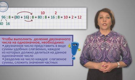 Математика 3 Устное деление двузначного числа на однозначное
