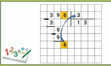 письменное деление трёхзначного числа на однозначное