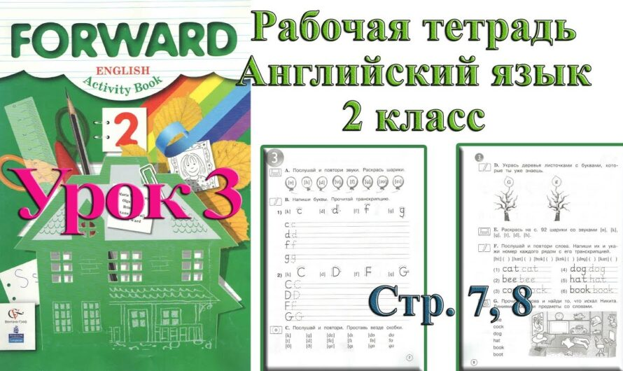 Английский язык Forward Рабочая тетрадь 2 класс 3 урок Вербицкая стр 7 8