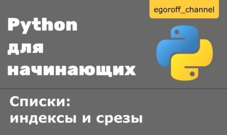 13 Списки: индексы и срезы Python