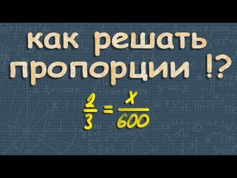 ПРОПОРЦИЯ 6 класс математика отношения и пропорции