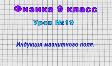Физика 9 класс (Урок№19 - Индукция магнитного поля.)