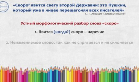 Русский 7 Морфологический разбор наречия