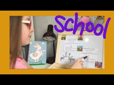 Видеоурок по математике. Сложение и вычитание в столбик/ Семейка Басиков и Мисс Фаина/ Школа Басиков
