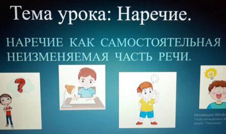 Наречие. Русский язык. 7 класс.