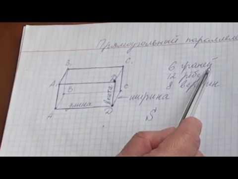 Уроки. Математика 5 класс Площадь прямоугольного параллелепипеда