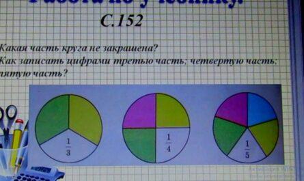 """ООШ №80. Математика 3 класс. Видеоурок на тему: """"Доли."""" Учитель Романенко Е.Л."""