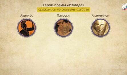 Троянская война. Поэмы Гомера «Илиада» и «Одиссея»