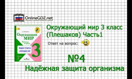 Задание 4 Надёжная защита организма - Окружающий мир 3 класс (Плешаков А.А.) 1 часть