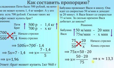 задачи на пропорции 6 класс