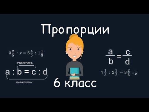 Пропорции, 6 класс