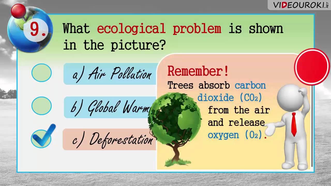 """Видеоурок по английскому языку """"Ecological problems. Quiz"""""""