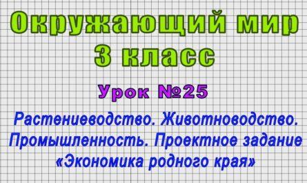 Окружающий мир 3 класс (Урок№25 - Растениеводство. Животноводство. Промышленность.)