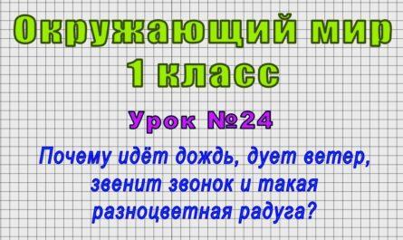Окружающий мир 1 класс (Урок№24 - Почему идёт дождь, дует ветер, звенит звонок и такая радуга?)
