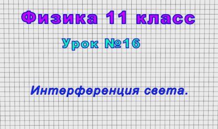 Физика 11 класс (Урок№16 - Интерференция света.)