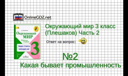 Задание 2 Какая бывает промышленность - Окружающий мир 3 класс (Плешаков А.А.) 2 часть